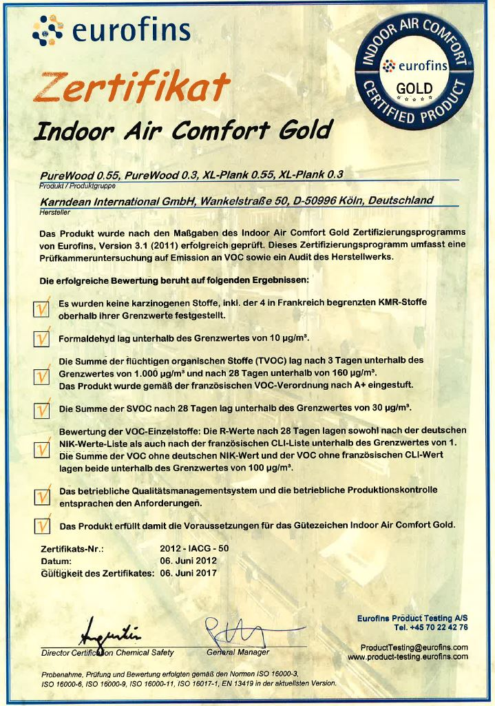 www.Boden4You.com Indoor Air Comport Gold Karndean Objectflor PureWood