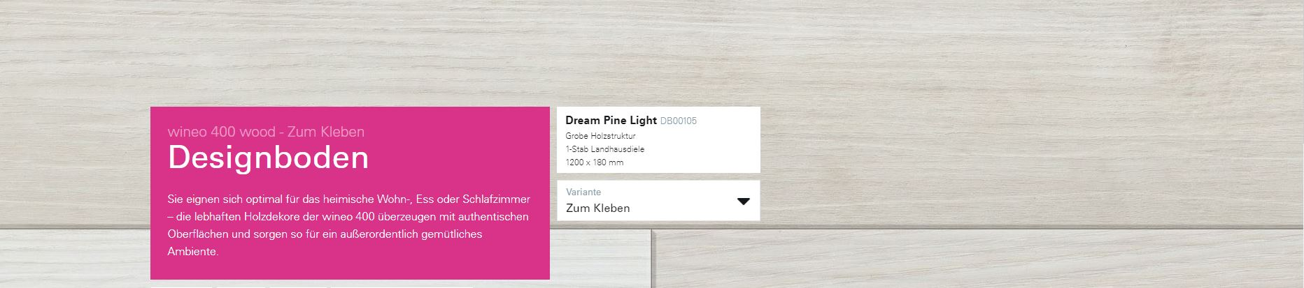 Wineo 400 Dream Pine Light DB00105 @ Boden4You.com Design Bodenbelag günstig und Trsuted Shop sicher kaufen