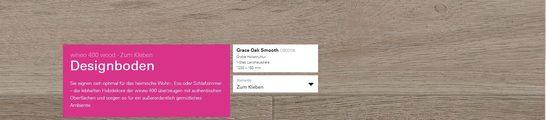 Wineo 400 Grace Oak Smooth DB00106 @ Boden4You.com Design Bodenbelag günstig und Trsuted Shop sicher kaufen