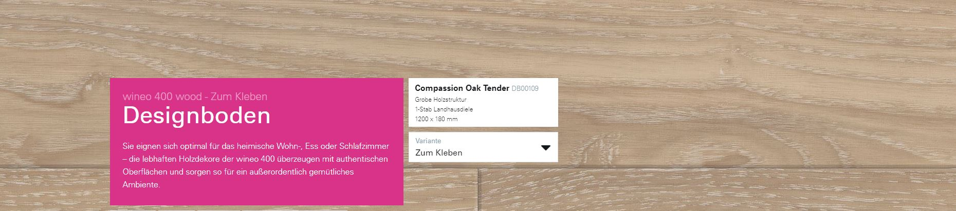 Wineo 400 Compassion Oak Light DB00109 @ Boden4You.com Design Bodenbelag günstig und Trsuted Shop sicher kaufen