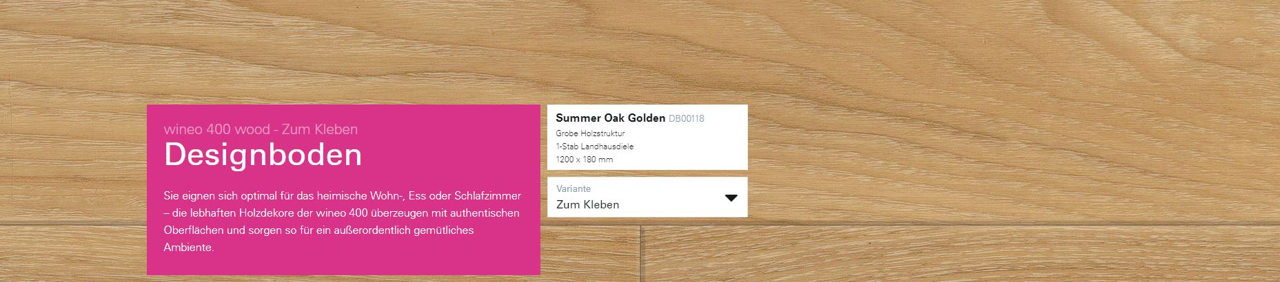 Wineo 400 Summer Oak Golden DB00118 @ Boden4You.com Design Bodenbelag günstig und Trsuted Shop sicher kaufen
