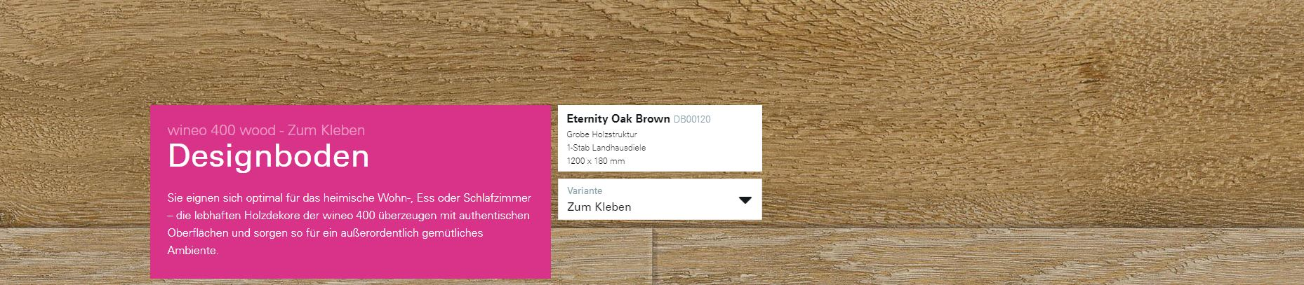 Wineo 400 Eternity Oak Brown DB00120 @ Boden4You.com Design Bodenbelag günstig und Trsuted Shop sicher kaufen