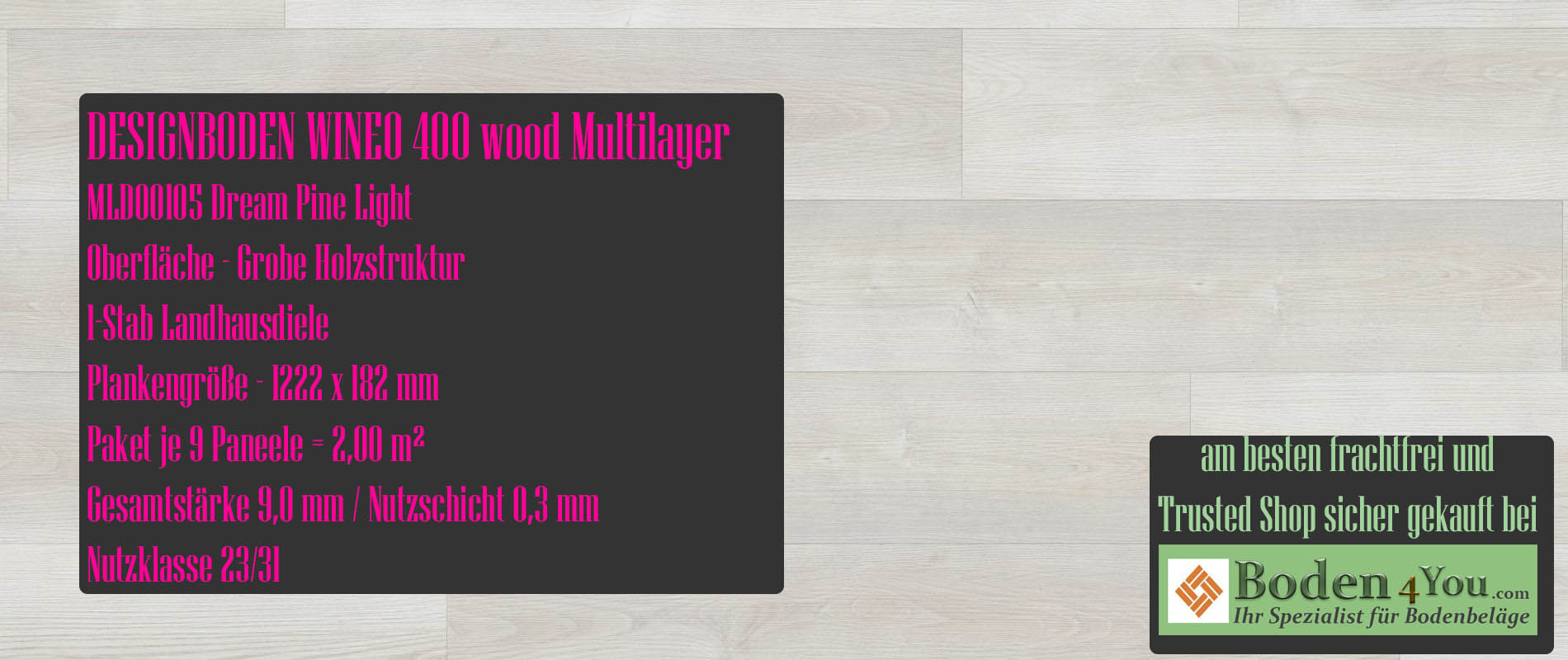 Wineo 400 Multilayer Moonlight Pine Pale @ Boden4You.com Design Bodenbelag günstig und Trsuted Shop sicher kaufen