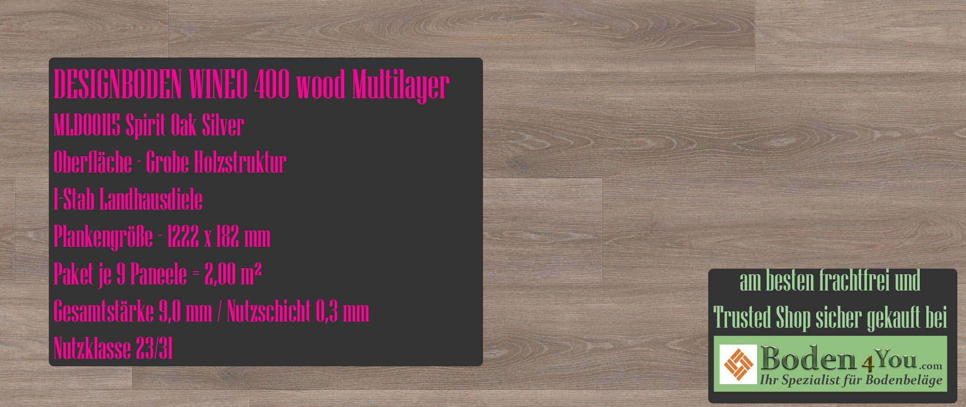 Wineo 400 Multilayer Energy Oak Warm @ Boden4You.com Design Bodenbelag günstig und Trsuted Shop sicher kaufen