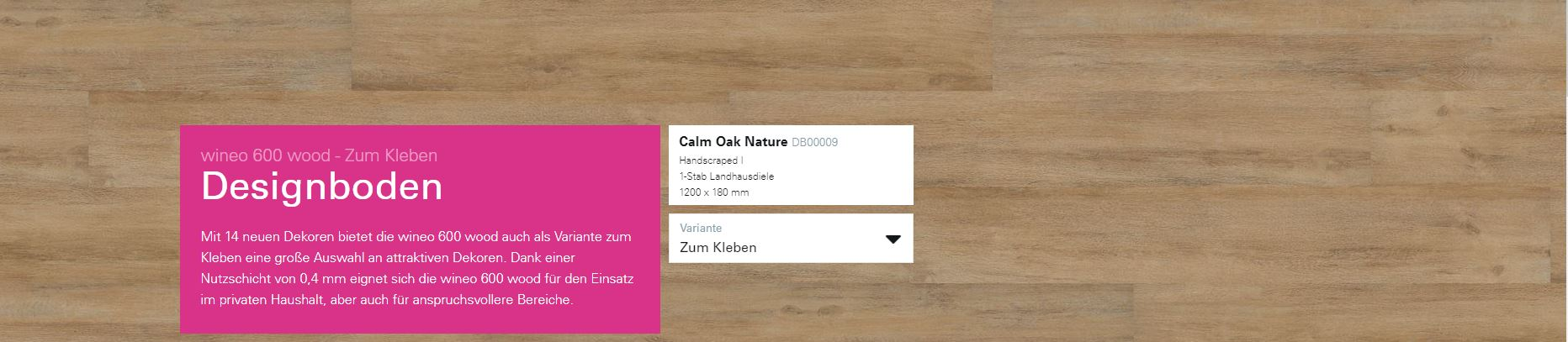 Wineo 600 Calm Oak Nature DB0009 @ Boden4You.com Design Bodenbelag günstig und Trsuted Shop sicher kaufen