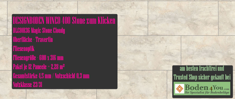 Wineo 400 Wood Klicken Magic Stone Cloudy @ Boden4You.com Design Bodenbelag günstig und Trsuted Shop sicher kaufen