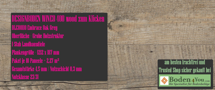 Wineo 400 Wood Klicken Embrace Oak Grey @ Boden4You.com Design Bodenbelag günstig und Trsuted Shop sicher kaufen