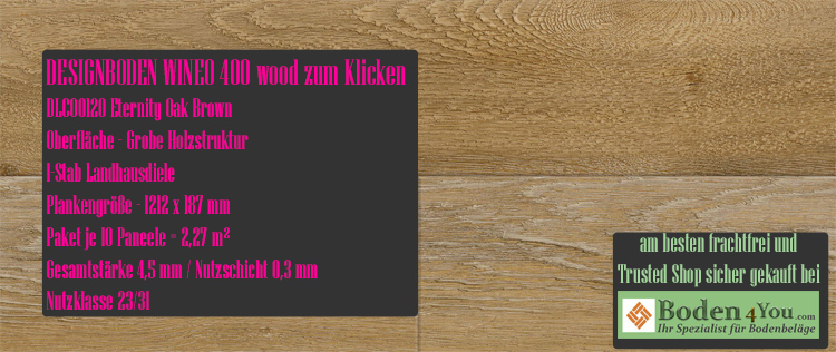 Wineo 400 Wood Klicken Eternity Oak Brown @ Boden4You.com Design Bodenbelag günstig und Trsuted Shop sicher kaufen