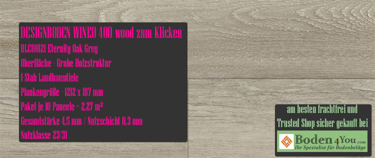 Wineo 400 Wood Klicken Eternity Oak Grey @ Boden4You.com Design Bodenbelag günstig und Trsuted Shop sicher kaufen