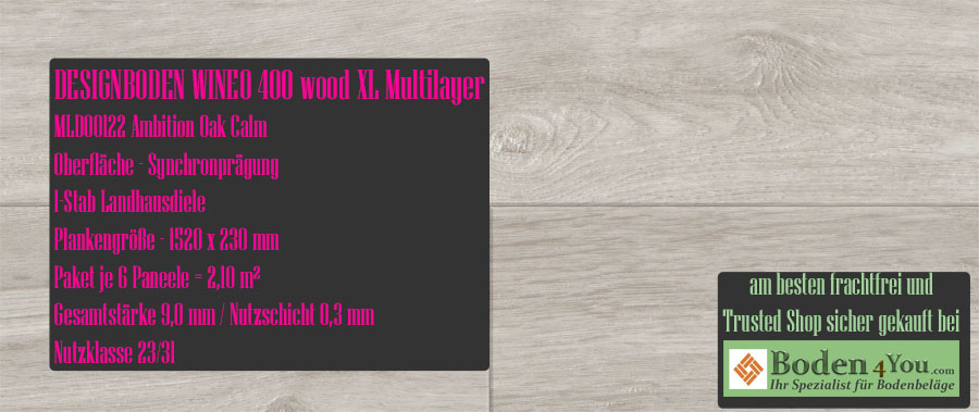 Wineo 400 XL! Wood Multilayer Ambition Oak Calm @ Boden4You.com Design Bodenbelag günstig und Trsuted Shop sicher kaufen