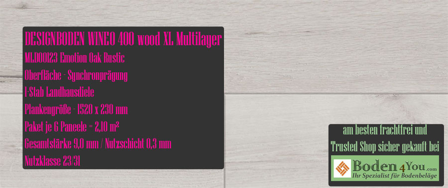 Wineo 400 XL! Wood Multilayer Emotion Oak Rustic @ Boden4You.com Design Bodenbelag günstig und Trsuted Shop sicher kaufen