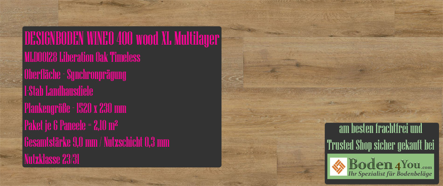 Wineo 400 XL! Wood Multilayer Liberation Oak Timeless @ Boden4You.com Design Bodenbelag günstig und Trsuted Shop sicher kaufen