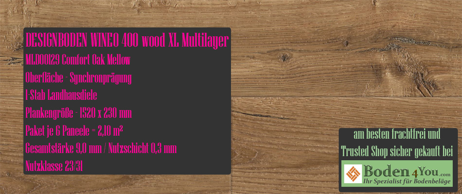 Wineo 400 XL! Wood Multilayer Comfort Oak Mellow @ Boden4You.com Design Bodenbelag günstig und Trsuted Shop sicher kaufen