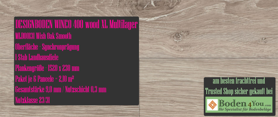 Wineo 400 XL! Wood Multilayer Intuition Oak Brown @ Boden4You.com Design Bodenbelag günstig und Trsuted Shop sicher kaufen