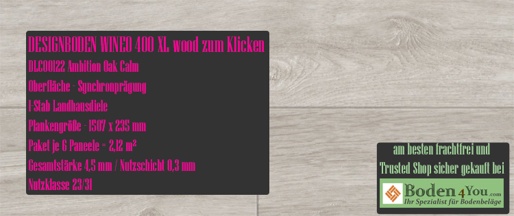Wineo 400 XL Wood Klicken Ambition Oak Calm @ Boden4You.com Design Bodenbelag günstig und Trsuted Shop sicher kaufen
