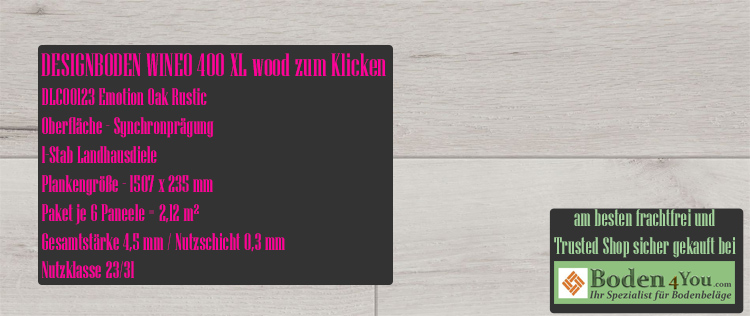 Wineo 400 XL Wood Klicken Emotion Oak Rustic @ Boden4You.com Design Bodenbelag günstig und Trsuted Shop sicher kaufen