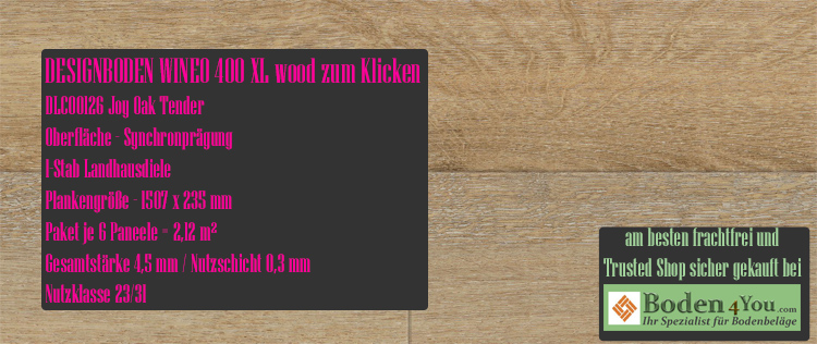 Wineo 400 XL Wood Klicken Joy Oak Tender @ Boden4You.com Design Bodenbelag günstig und Trsuted Shop sicher kaufen