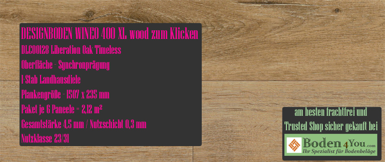 Wineo 400 XL Wood Klicken Liberation Oak Timeless @ Boden4You.com Design Bodenbelag günstig und Trsuted Shop sicher kaufen