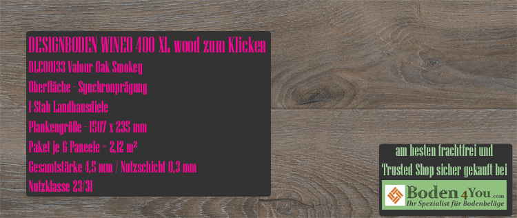 Wineo 400 XL Wood Klicken Valour Oak Smokey @ Boden4You.com Design Bodenbelag günstig und Trsuted Shop sicher kaufen