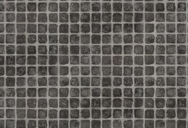 PVC Vinyl Bodenbelag Design Effekt Fliesen Pflasterstein Cobbloestone ...