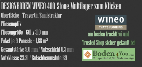 Wineo 400 Stone Multilayer zum Klicken MLD00136 Magic Stone Cloudy @ Boden4You.com Vinyl Design Bodenbelag günstig und Trusted Shop sicher kaufen